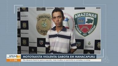 Mototaxista é preso suspeito de estuprar menina, em Manacapuru, no AM - Câmeras de segurança ajudaram a encontrar suspeito.