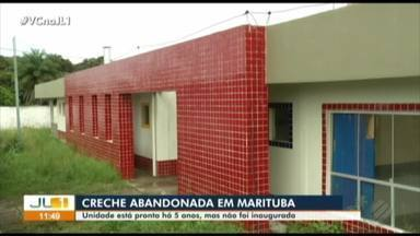 Moradores de Marituba denunciam falta de creche no município - Segundo moradores, no bairro do Decouvile, prédio estaria pronto há cinco anos mas ainda não foi inaugurado.