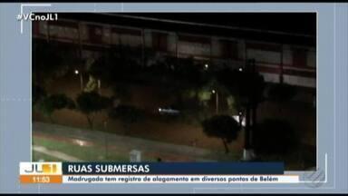Chuvas e maré alta causam alagamentos em Belém - Vários pontos dos bairros do Reduto e do Umarizal ficaram submersos.