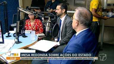 Programa Mesa redonda recebe secretários do governo do Pará em Santarém - Secretários de saúde, segurança pública e educação participaram do programa. Algumas ações nestas áreas foram anunciadas.