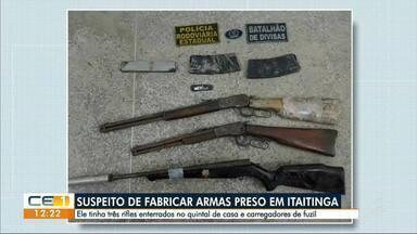 Suspeito de fabricar armas é preso em Itaitinga - Outras informações no g1.com.br/ce
