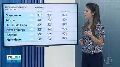 Confira a previsão do tempo para esta sexta-feira (22) no interior do Rio - Veja na reportagem.