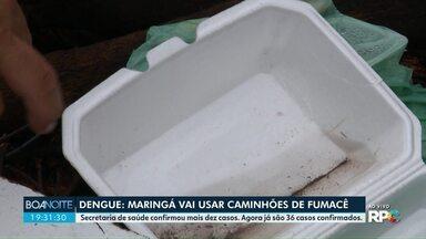 Maringá vai usar caminhão de fumacê para controlar a dengue - Secretaria municipal de Saúde confirmou 36 casos da doença