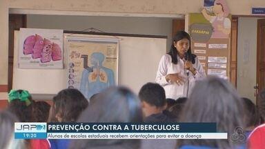 Alunos de escola pública são orientados sobre como prevenir a tuberculose - Quase 250 casos da doença foram registrados no Amapá em 2018.