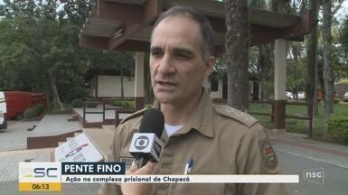Polícia Civil deflagra operação em complexo prisional de Chapecó - Polícia Civil deflagra operação em complexo prisional de Chapecó