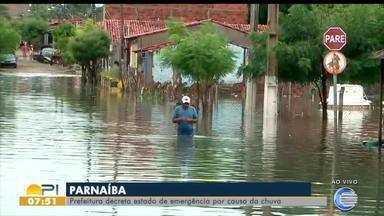 Prefeitura de Parnaíba decreta estado de emergência por causa das chuvas - Prefeitura de Parnaíba decreta estado de emergência por causa das chuvas