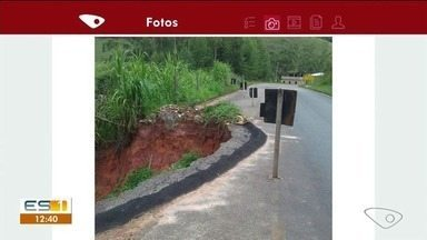 Moradores enfrentam perigos em estrada do Caparaó, no ES - Confira as imagens.