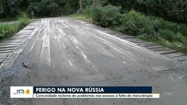 Comunidade da Nova Rússia reclama de problemas em acessos e falta de manutenção - Comunidade da Nova Rússia reclama de problemas em acessos e falta de manutenção