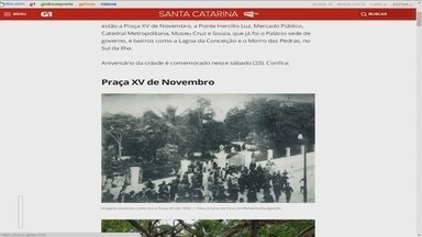 G1 traz passado e presente de Florianópolis em fotos - G1 traz passado e presente de Florianópolis em fotos
