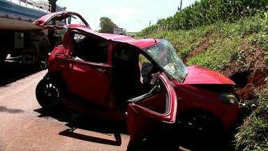Criança fica gravemente ferida em acidente na saída de Toledo para Assis Chateaubriand - Outras quatro pessoas também ficaram feridas.