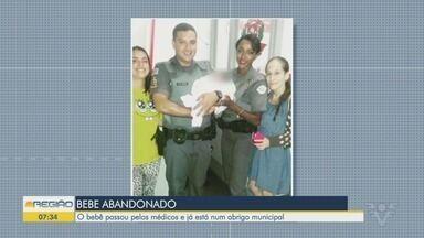 Bebê é abandonado dentro de sacola em Guarujá - A criança passou pelos cuidados de médicos e passa bem.