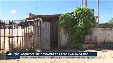 Adolescente é esfaqueada pelo ex-namorado em Piraquara - Os vizinhos conseguiram deter o agressor, que está internado sob escolta policial