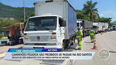 Tráfego de caminhões na Rio-Santos é restrito em São Sebastião - Motorista que desobedecer pode ser multado.