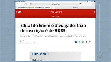 Edital do Enem é divulgado - Taxa de Inscrição é de 85 reais.