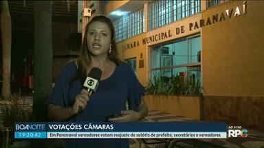 Vereadores de Paranavaí votam reajuste de salários do executivo e legislativo - O percentual é de 3,43% para prefeito, vice, secretários municipais, vereadores e presidente da câmara.