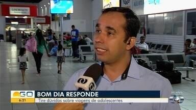 Presidente do Conselho Tutelar de Goiânia explica sobre novas regras para viagens - Rondinelli Nah orienta sobre os cuidados na hora de viajar com crianças.