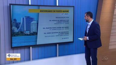 Confira a programação para o aniversário de Porto Alegre nesta terça-feira (26) - A capital gaúcha recebe diversos eventos em pontos diferentes da cidade.