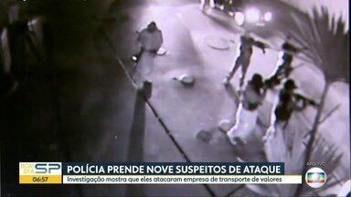 Polícia prende 9 suspeitos de participar de assaltos a empresas de transportes de valores - Operação da Polícia aconteceu nas cidades de Ribeirão Preto, Pradópolis, Campinas e Hortolândia.
