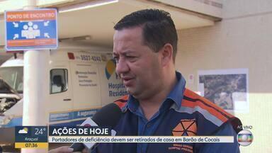 Reunião define ações com população de Barão de Cocais - Entrevista com o tenente-coronel Flávio Godinho, coordenador-adjunto da Defesa Civil Estadual.