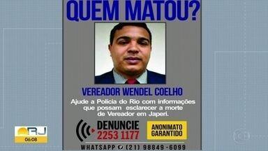 Polícia investiga morte de vereador de Japeri - Wendel Coelho foi assassinado no domingo (24), com um tiro no peito.