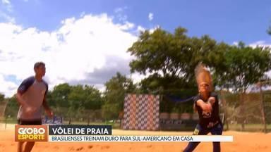 Brasilienses se destacam em Sul-americano de vôlei de praia - Brasilienses se destacam em Sul-americano de vôlei de praia