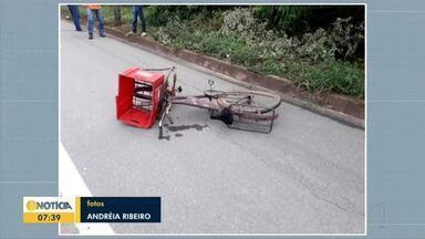 Ciclista morre na BR-116 após ser atingido por carro em Inhapim - Motorista do carro não se feriu e policia investiga causas do acidente.