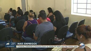 Estado de São Paulo cria mais de 62 mil novos postos de trabalho - Cadastro Geral de Empregados e Desempregados (Caged) divulgou nesta segunda-feira (25) o balanço de vagas de emprego. As três cidades que mais se destacaram na região foram: Campinas, Indaiatuba e Americana.