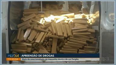 Polícia Rodoviária Estadual apreende mais de uma tonelada de maconha - A droga estava num furgão. A apreensão foi na PR-323, em Iporã.
