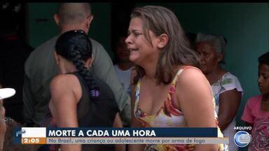 Números revelam que uma criança é morta porarma de fogo a cada hora no Brasil - Números revelam que uma criança é morta porarma de fogo a cada hora no Brasil