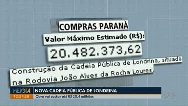 Licitação para construção de nova cadeia pública de Londrina é publicada - O terreno onde será construído fica ao lado da PEL II, na estrada que dá acesso ao Distrito de Maravilha.