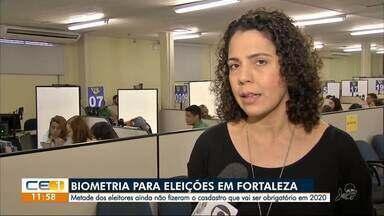 Metade dos eleitores de Fortaleza ainda não fizeram a biometria - Outras informações no g1.com.br/ce