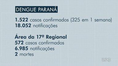 Aumenta de 4 para 8 número de municípios com epidemia de dengue no Paraná - A maioria fica na região de Londrina. São eles: Lupionópolis, Uraí, Santa Mariana, Rancho Alegre, Cafeara e Santo Antônio do Paraíso.
