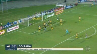 Palmeiras vence Novorizontino de goleada e vai para a semifinal do Paulistão - Verdão se classificou após vitória por 5 a 0.