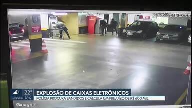 Bandidos explodiram caixas eletrônicos em um hotel perto do Palácio da Alvorada - Depois da explosão, os assaltantes pegaram o dinheiro e fugiram. A polícia calcula um prejuízo de quase R$ 600 mil.