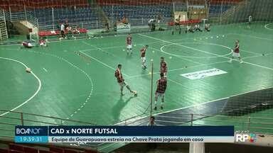 CAD estreia no Paranaense de Futsal contra o Norte Futsal de Francisco Beltrão - É a primeira partida oficial no Ginásio Joaquim Prestes em 2019.
