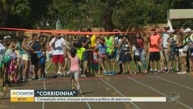 Cerca de 100 crianças participam da edição do 'Corrida Kids' em Campinas, neste domingo - O Kartódromo do Taquaral, em Campinas (SP), recebeu mais uma edição do 'Corrida Kids', neste domingo (31). Competição entre crianças estimula a prática de exercícios.