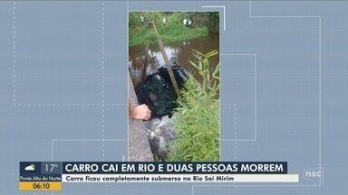 Duas pessoas morrem após carro cair dentro de rio em Itapoá - Duas pessoas morrem após carro cair dentro de rio em Itapoá