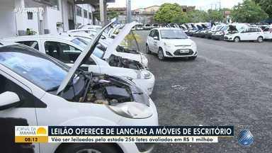 Leilão com 256 lotes oferece de veículos a lanchas e materiais de escritório - Confira os detalhes e veja como fazer a visitação aos lotes.