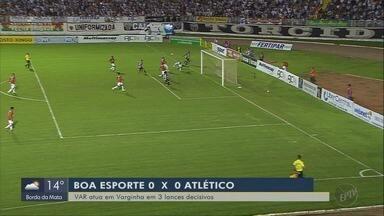 VAR é decisivo em partida entre Boa Esporte e Atlético-MG na semifinal - VAR é decisivo em partida entre Boa Esporte e Atlético-MG na semifinal