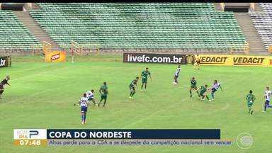 Altos perde para o CSA e se despede da Copa do Nordeste sem vitórias - Altos perde para o CSA e se despede da Copa do Nordeste sem vitórias