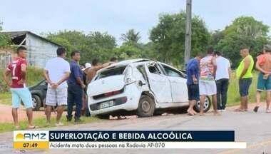 Jovem e adolescente morrem após veículo com sete pessoas capotar na AP-070 - Outros quatro ocupantes ficaram feridos. Condutor fugiu sem prestar socorro, mas foi identificado.
