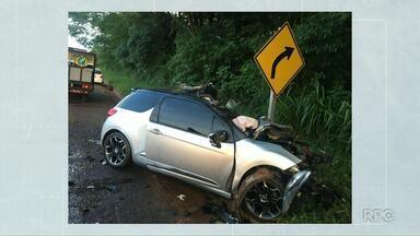 Motorista morreu em acidente com uma carreta, em Tapejara - Acidente foi na PR-323.