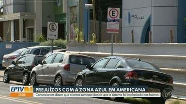 Comerciantes de Americana relatam prejuízo após implementação de zona azul - Segundo relatos, clientes deixaram de comparecer aos estabelecimentos por falta de vagas de estacionamento gratuitas.