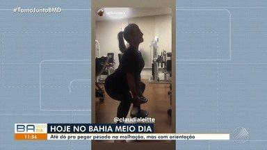 Claudia Leitte posta vídeo com malhação durante a gravidez - Veja as dicas do especialista sobre exercícios na gravidez.