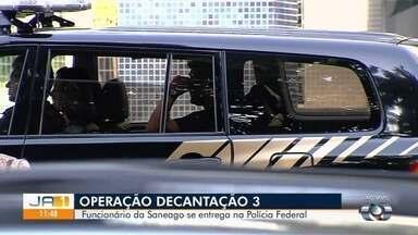 Engenheiro suspeito de fraudar licitações da Saneago se entrega na PF em Goiânia - José Vicente da Silva é um dos três alvos da terceira fase da Operação Decantação.