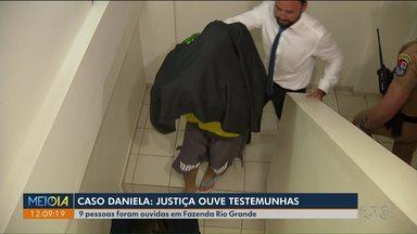 9 pessoas foram ouvidas no caso da morte da jovem Daniela - O crime foi no começo de janeiro em Fazenda Rio Grande. O marido de Daniela confessou ter matado a mulher