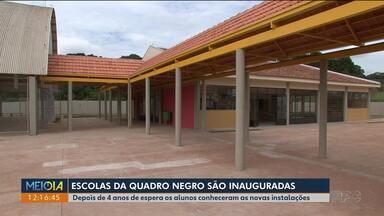 Duas escolas investigadas na Operação Quadro Negro são inauguradas - As duas são de Guarapuava
