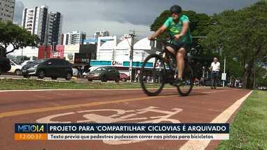 Projeto de 'compartilhamento' de ciclovias é arquivado - Texto previa que pedestres pudessem correr nas pistas para bicicletas.
