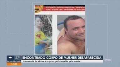 Polícia encontra corpo de mulher desaparecida em SC; companheiro é suspeito - Polícia encontra corpo de mulher desaparecida em SC; companheiro é suspeito