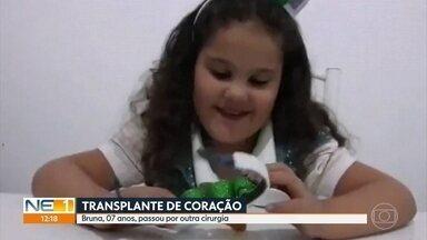 Criança do RN que fez transplante de coração no Recife precisa de doação de sangue - Doações podem ser feitas no Hemope, no bairro das Graças, na Zona Norte do Recife.